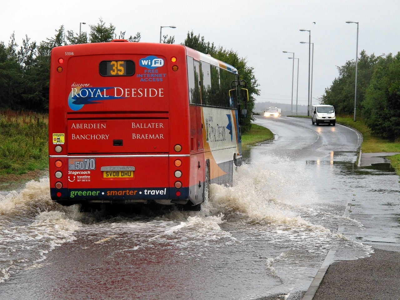 Flooding on the A96