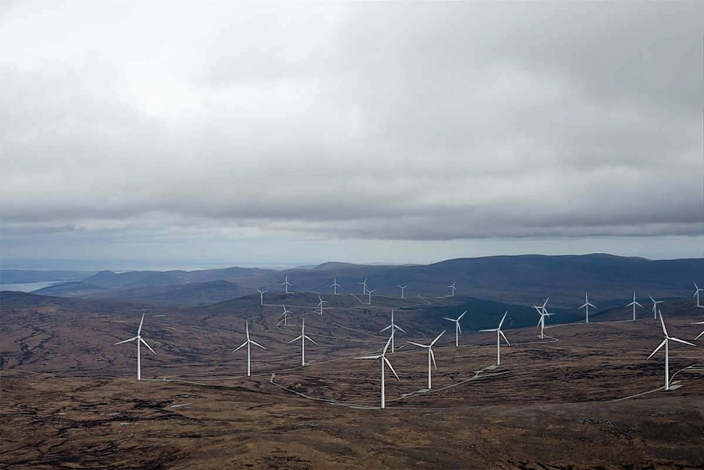 A photomontage of the Glenmorie windfarm.