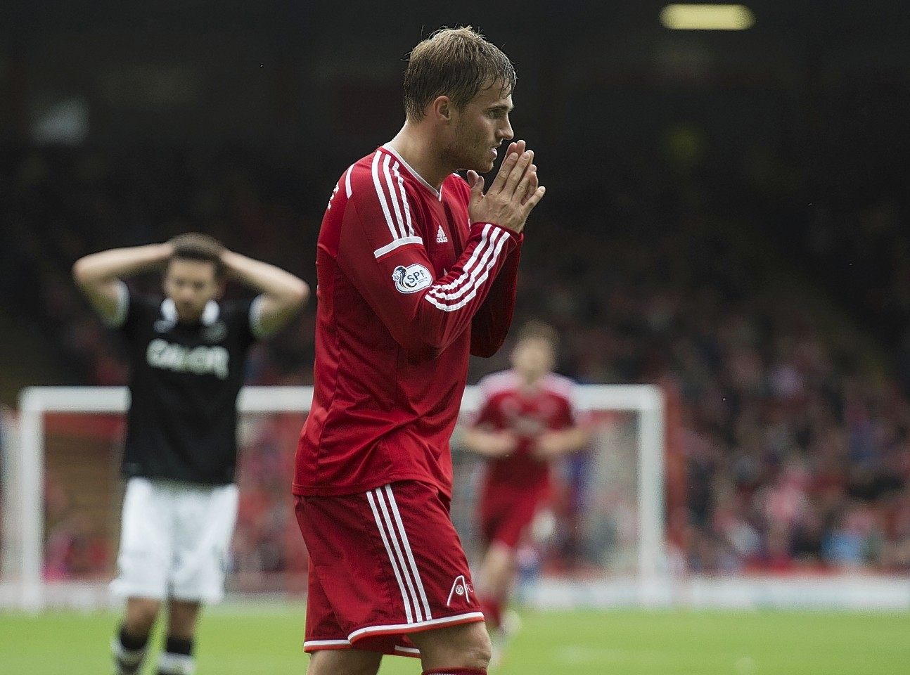 David Goodwillie couldn't find any sort of break through for the Dons