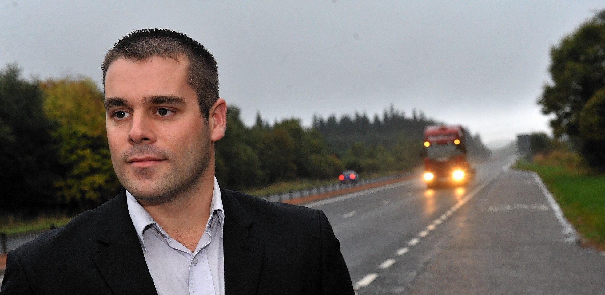 Mike Burns on the A9