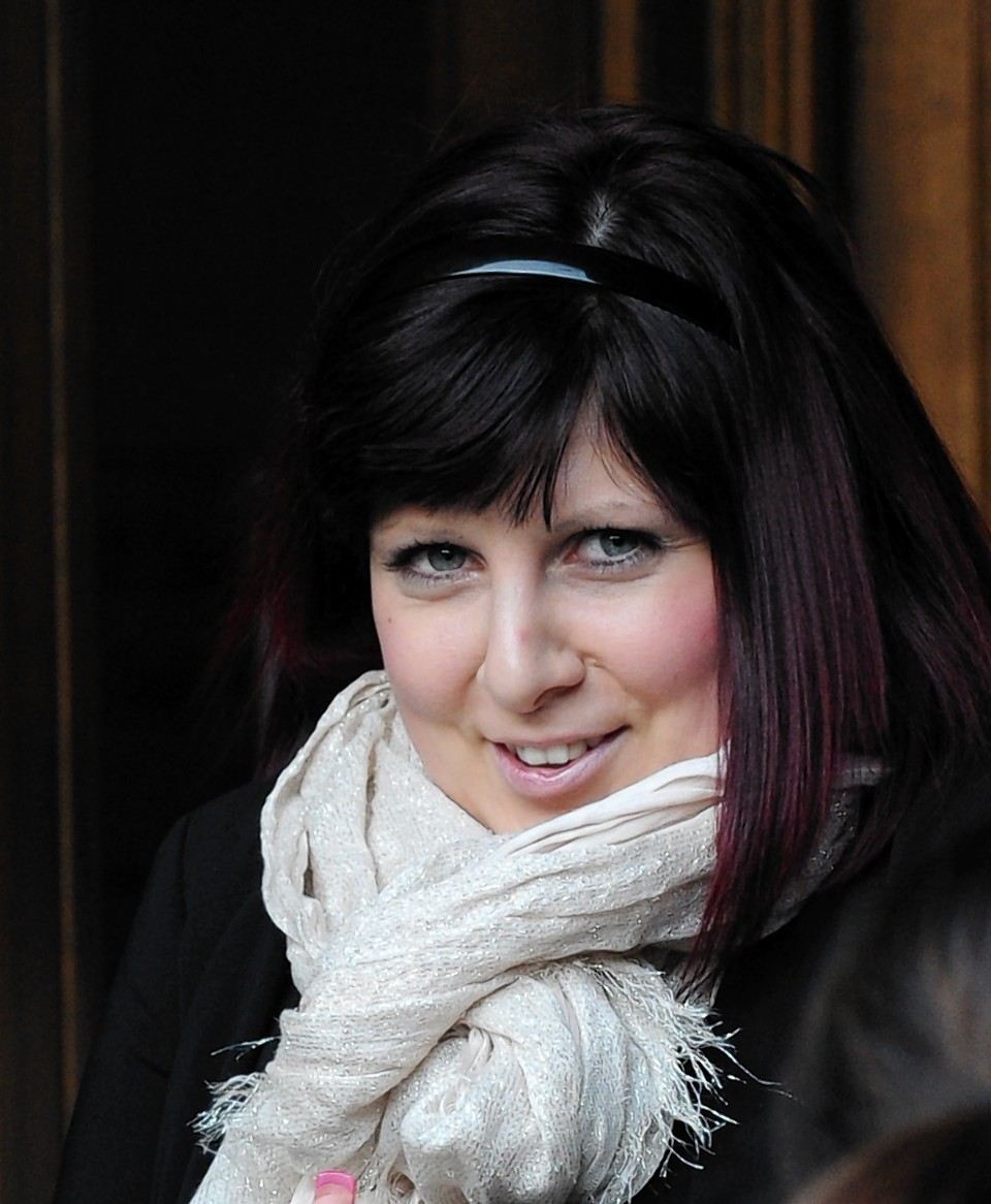 Natalie Mortimer pictured leaving Aberdeen Sheriff Court