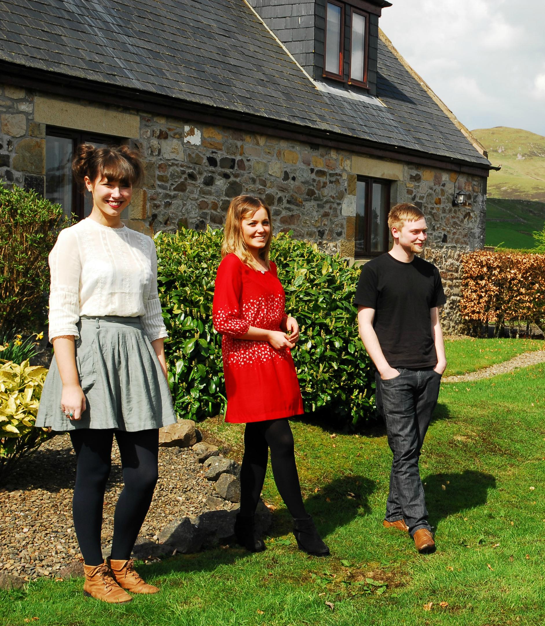 Left to right -  Molly Maher, Caroline Hendry,  James Paul