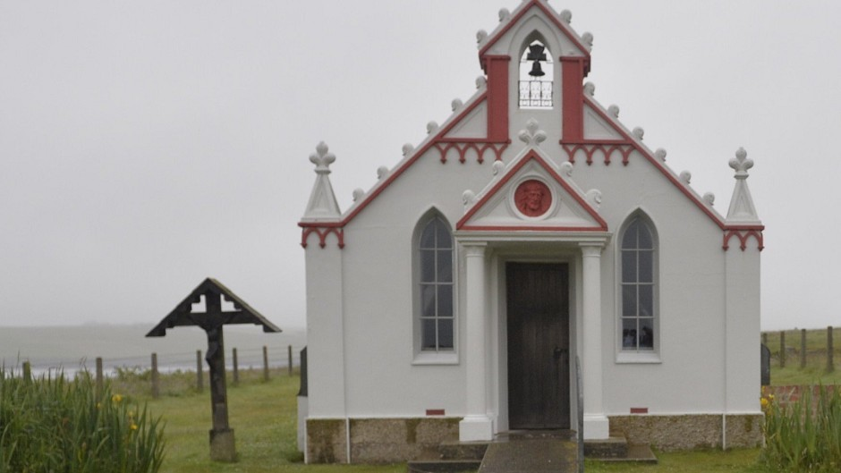Orkney's Italian Chapel was constructed by Italian prisoners of war during the Second World War