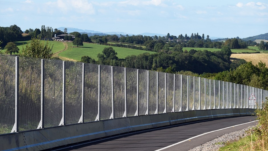 Security fencing has been erected around the perimeter of the Celtic Manor Resort, outside Newport, which will host the Nato summit next week