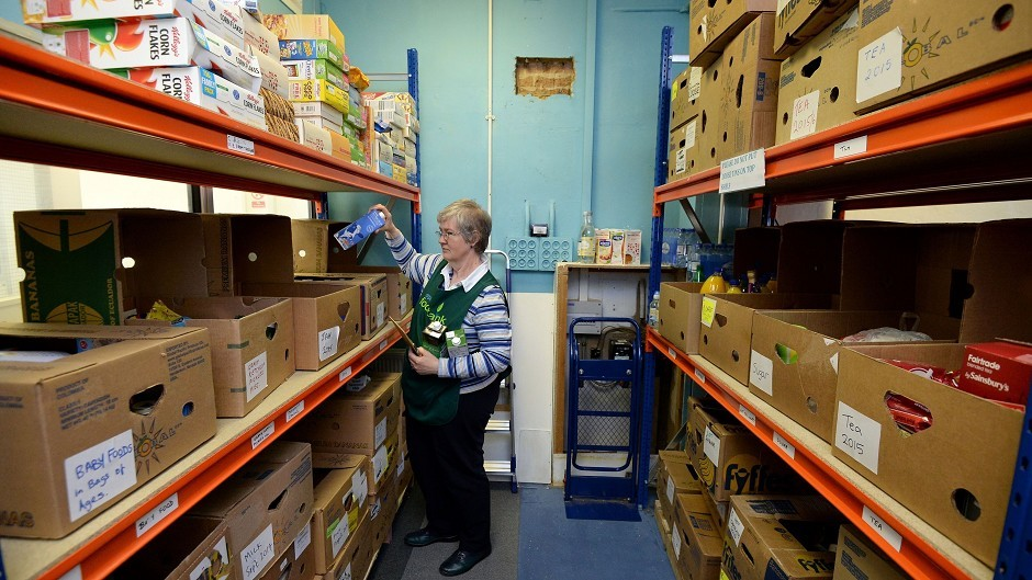 The Trussell Trust runs food banks across Scotland.