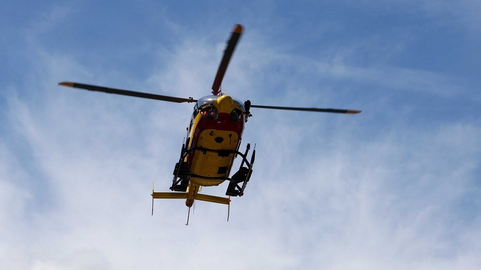 A holidaymaker has been airlifted to ARI