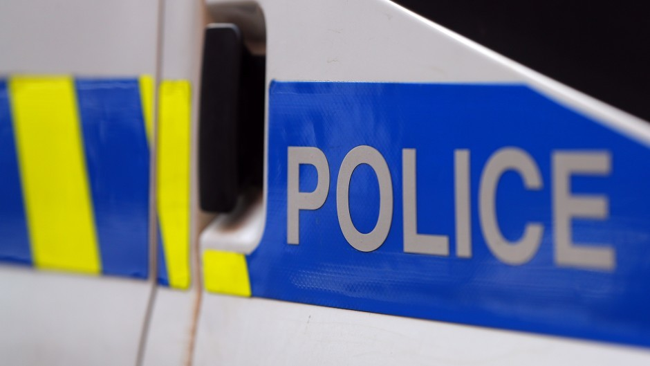 Police are in attendance at a car accident in Shetland