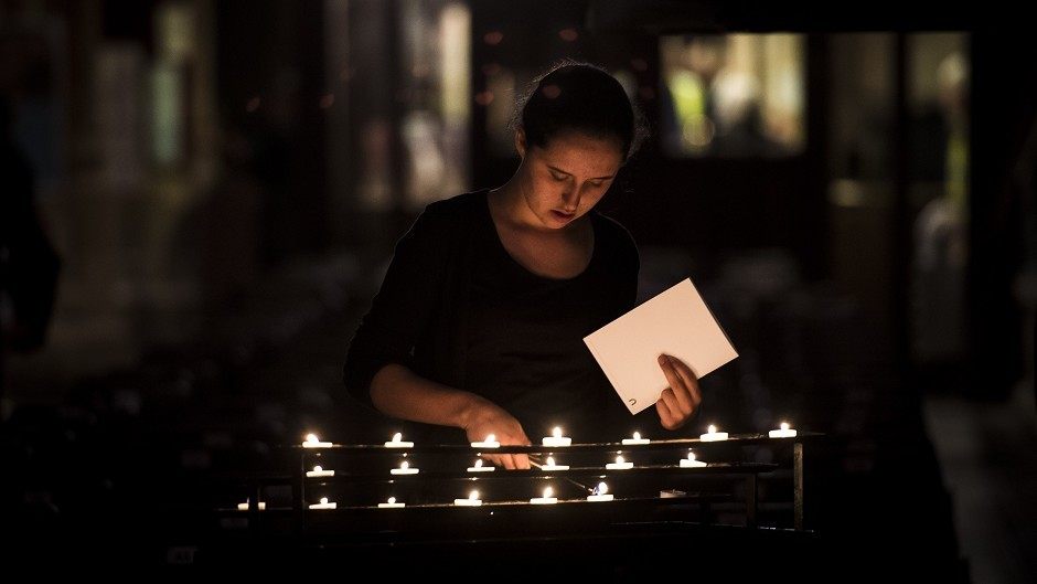 Candles were lit on the centenary of the outbreak of the First World War