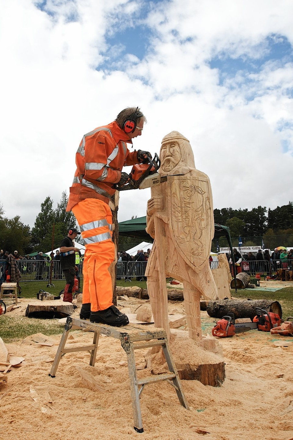 Chainsaw carver scoops top prize for second year running press