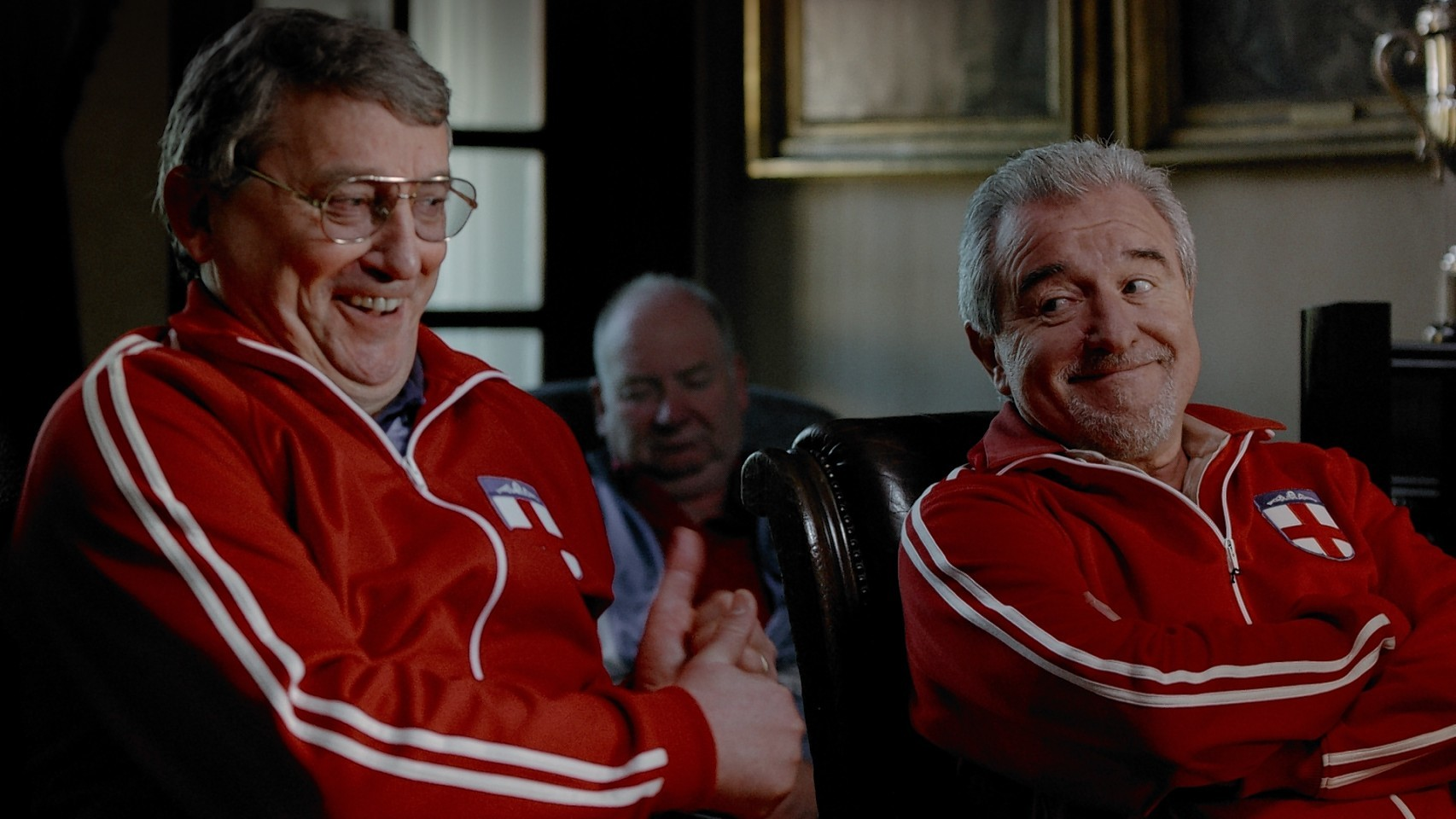 Terry Venables, right, with another former England manager, GrahamTaylor,in a 2010 TV advertisement