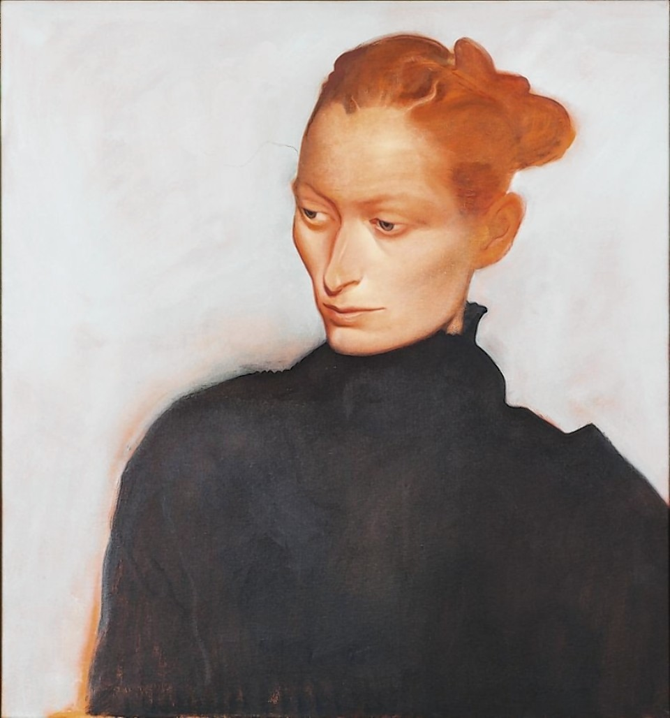 John Byrne's portrait of Tilda Swinton