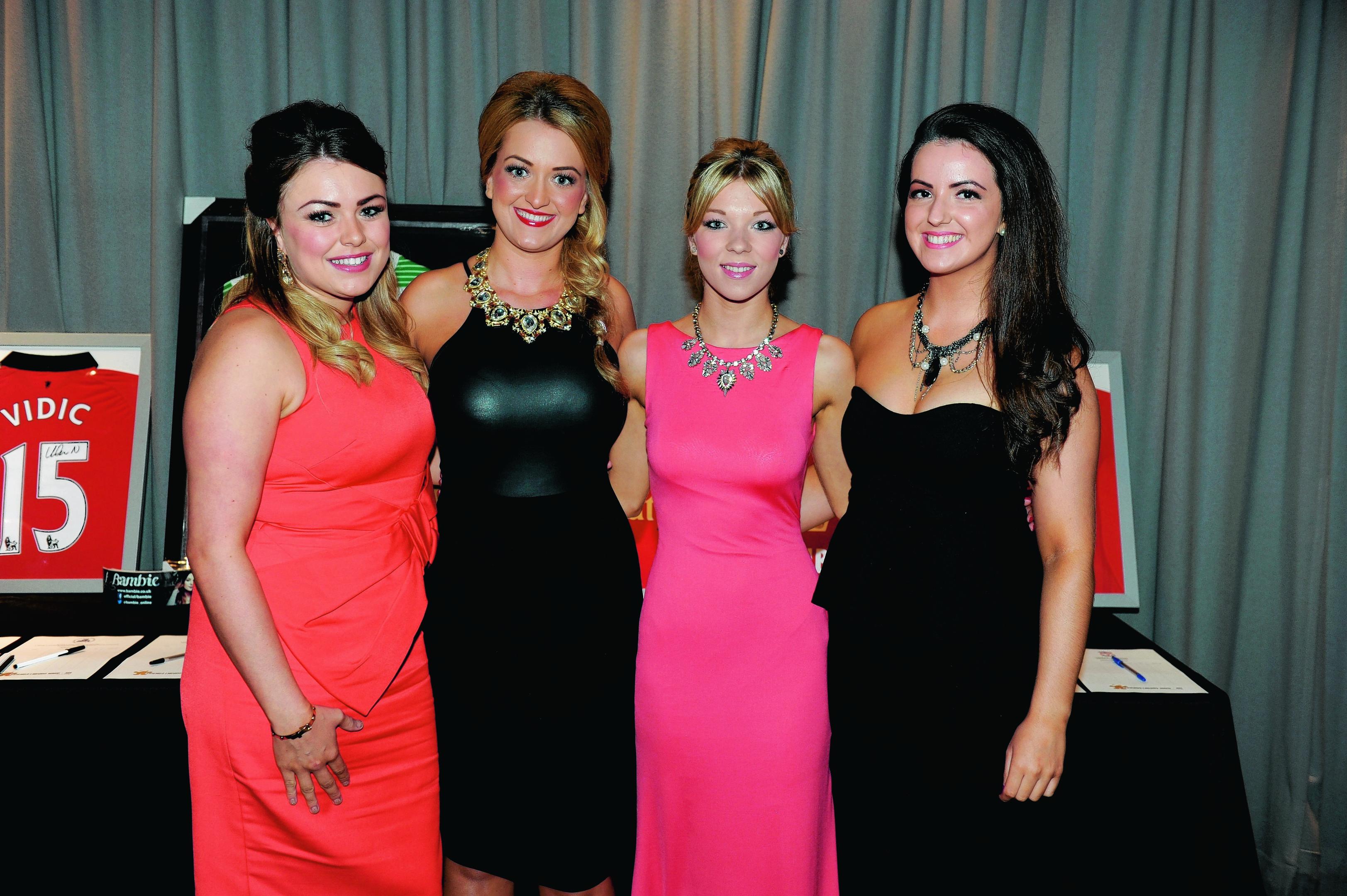 Lauren Michie, Becky Bowers, Amanda Gray and Lucy Gerrard.