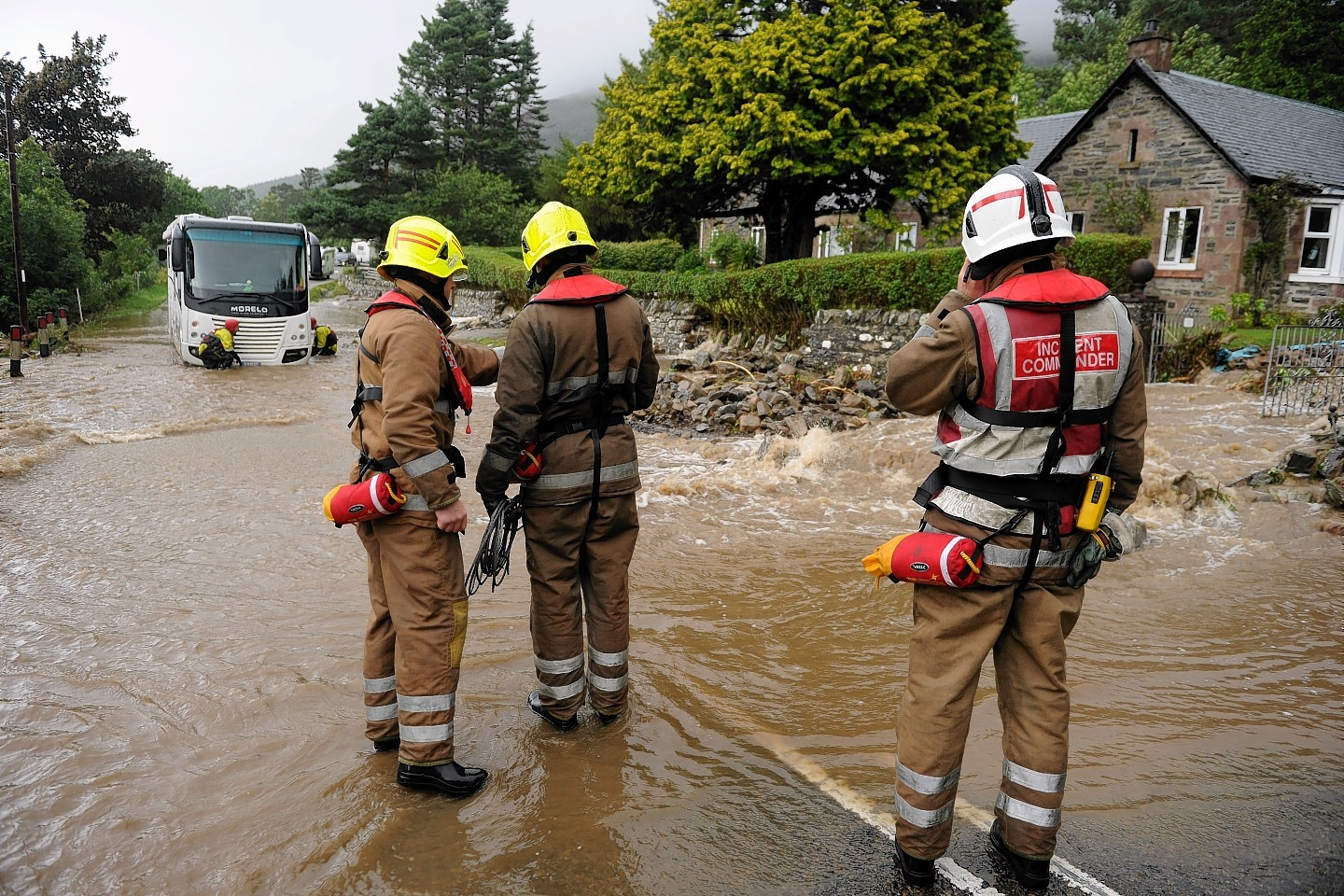 Firefighters deal with flooding near Ullapool