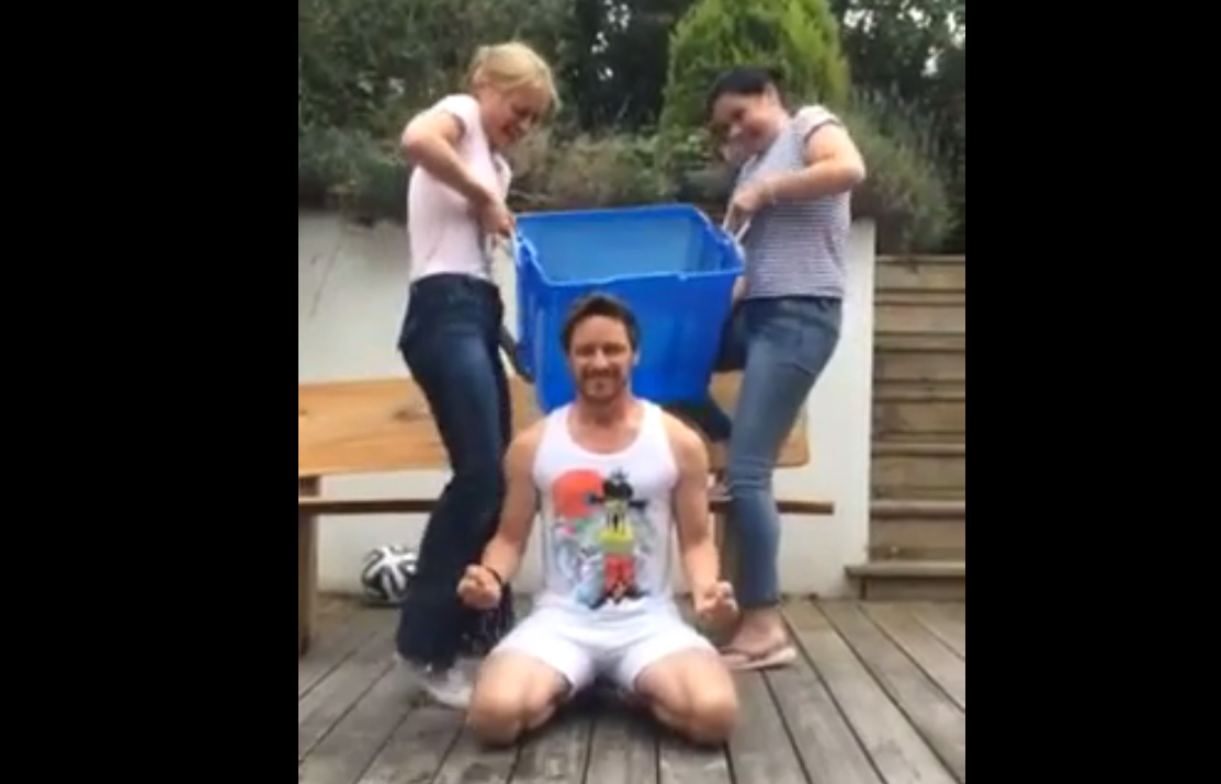 McAvoy takes part in the Ice Bucket Challenge
