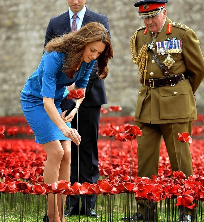 The Royal remember the war
