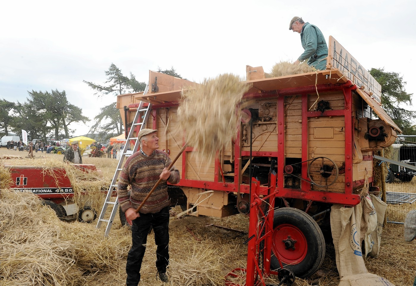 Agricultural machinery on display at the Strathnairn vintage rally