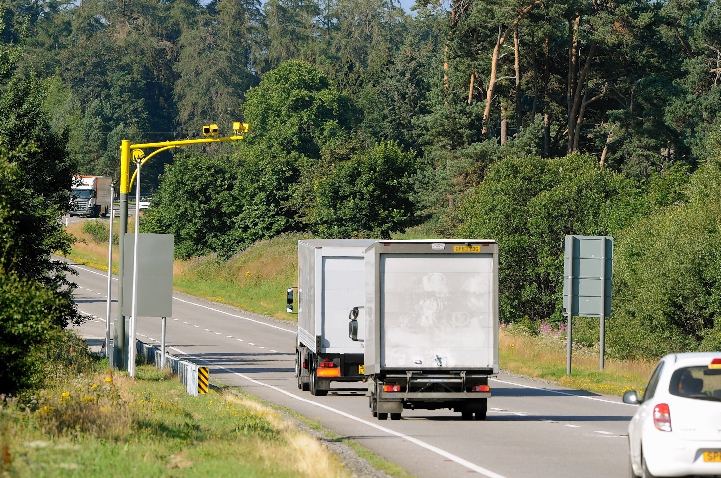 The speed limit for HGVs has been increased to 50mph on a stretch of the A9 for three years.