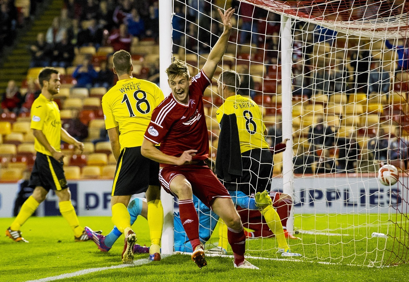 Taylor opened the scoring and impressed in defence throughout the match