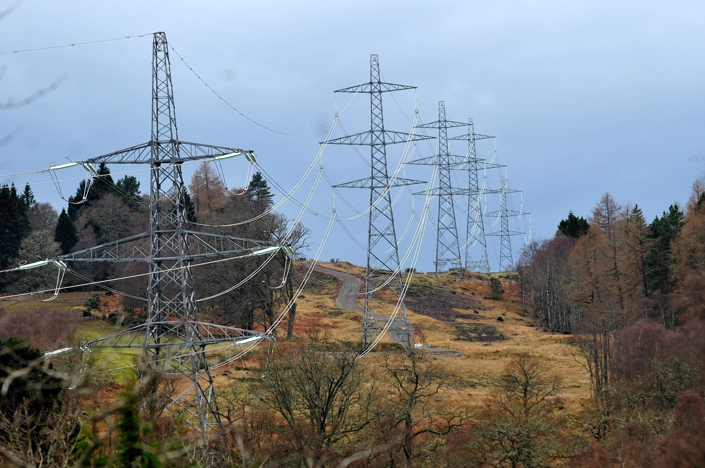 The 136-mile Beauly-Denny line was the last major power line to go operational in the north