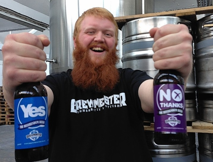 Brewmeister co-founder John Mckenzie with the ballot beers ... Fact 2: Guinness once estimated that about 93,000 liters of beer gets lost in the beards of Englishmen each year.