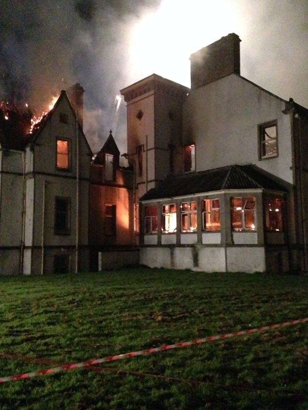 Firefighters tackled the blaze at Dunain House last night