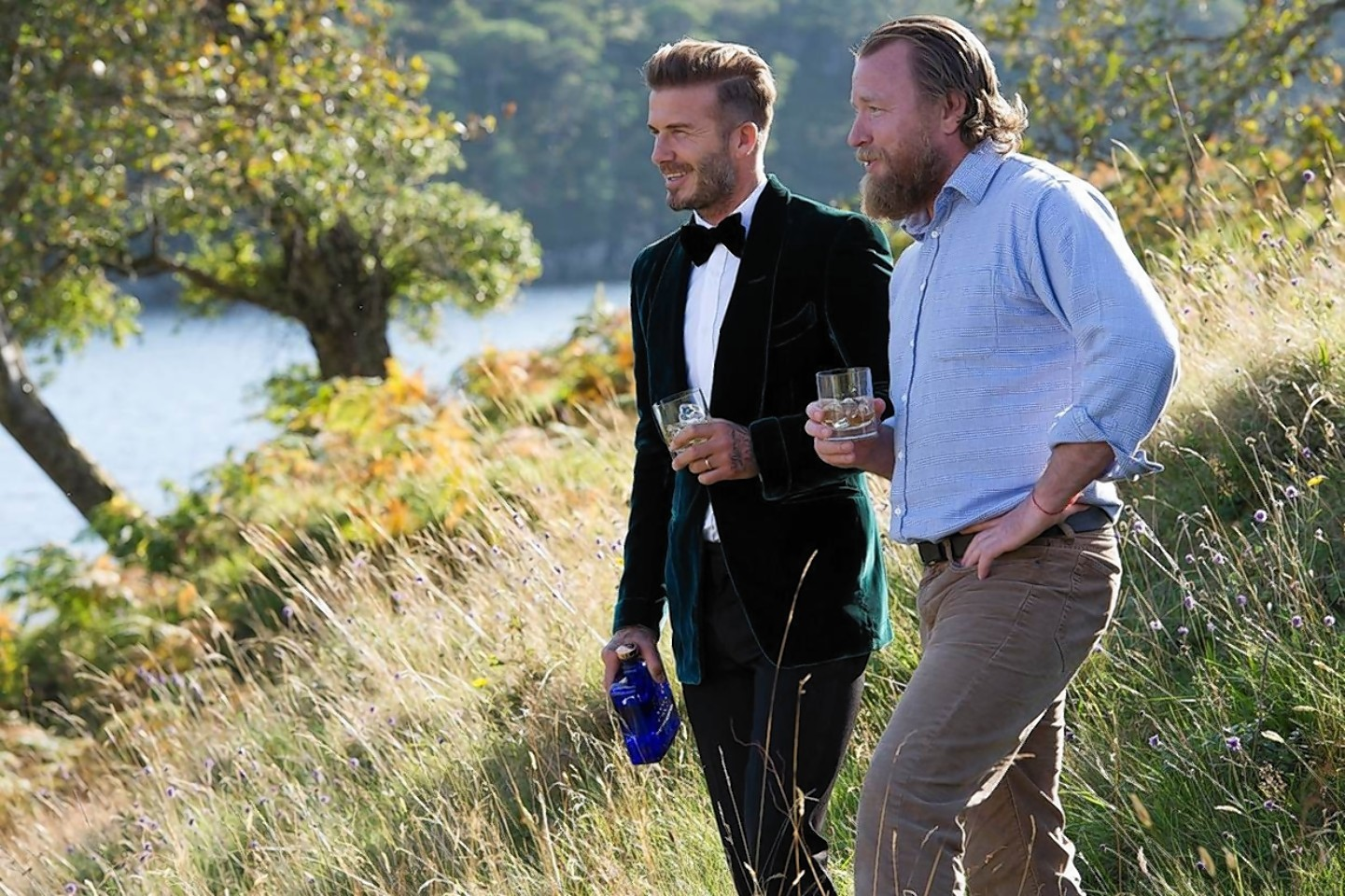 David Beckham and director Guy Ritchie