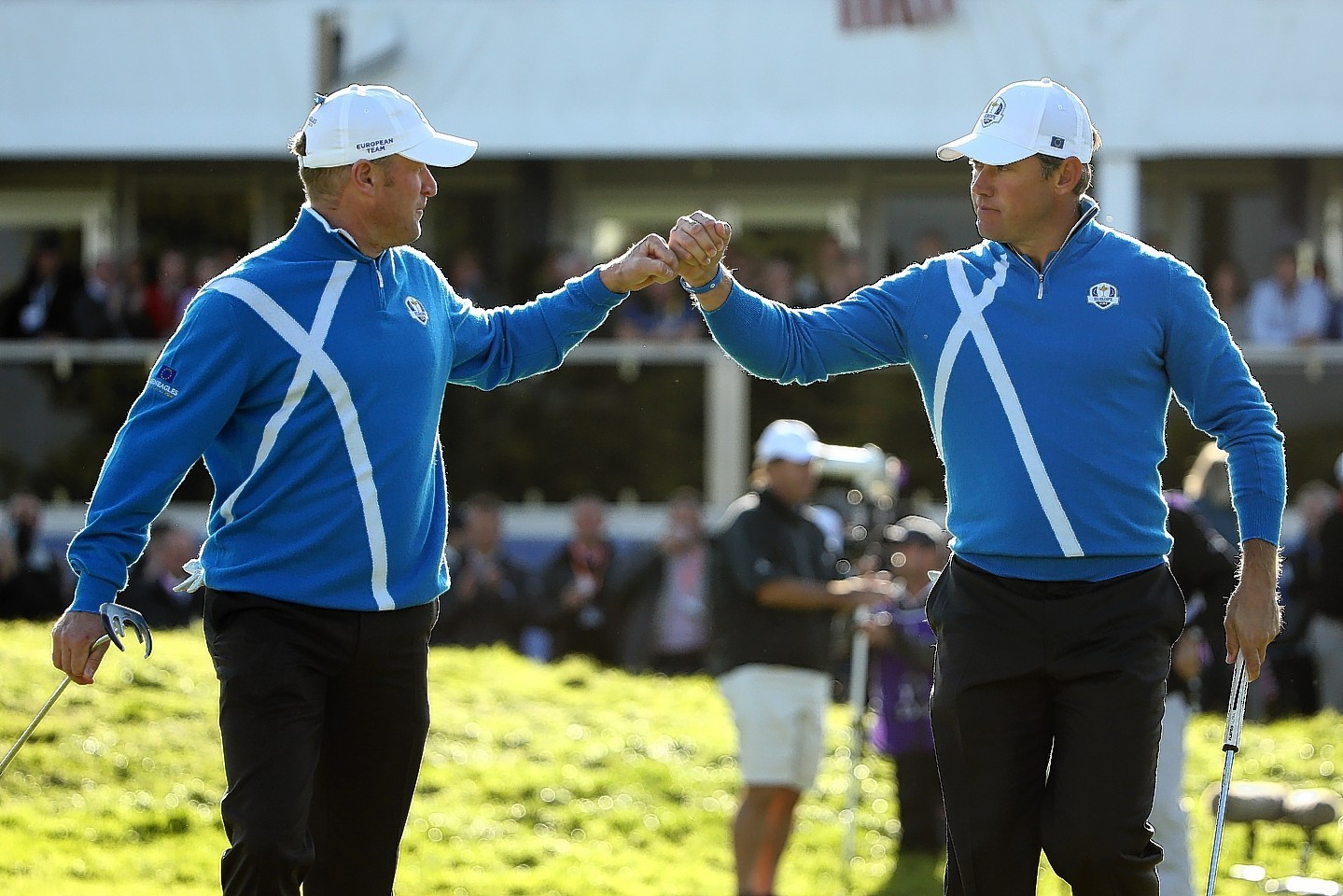 Lee Westwood and Jamie Donaldson were one of five European pairs to secure victories