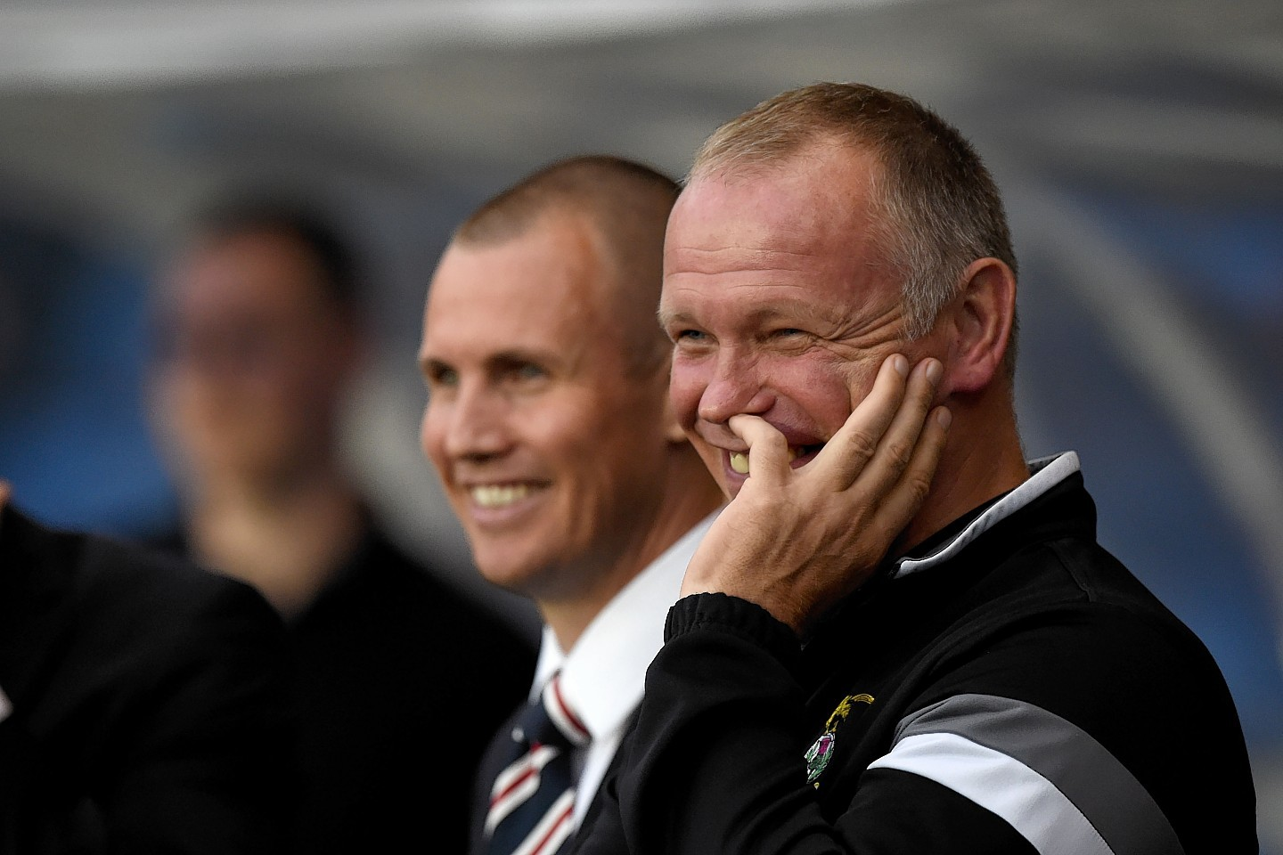 The game started in good spirits with Caley Thistle manager John Hughes sharing a joke with injured Rangers striker Kenny Miller