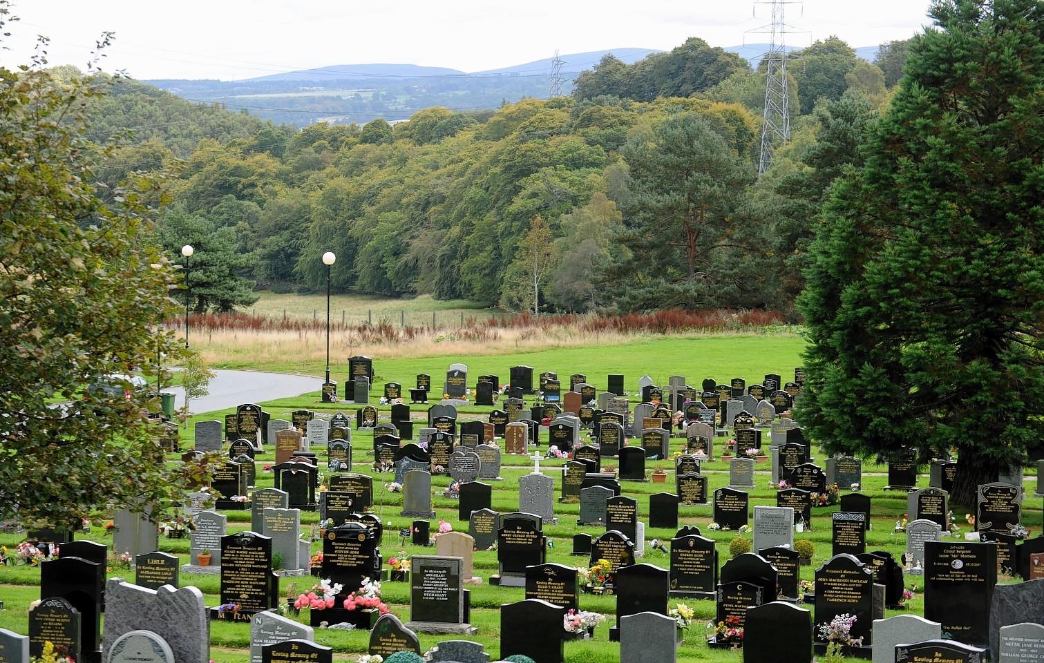 Kilvean Cemetery in Inverness.
