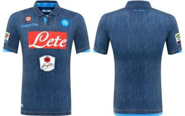 Napoli's denim strip comes with a fetching pair of matching denim shorts