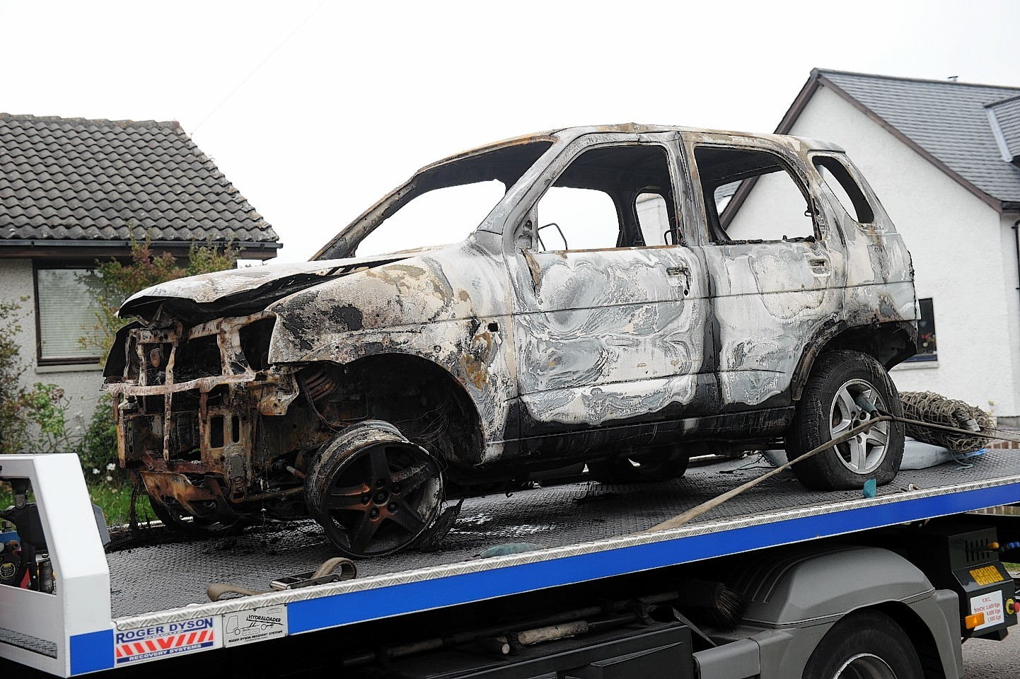 The vehicle which was destroyed at Newhall.