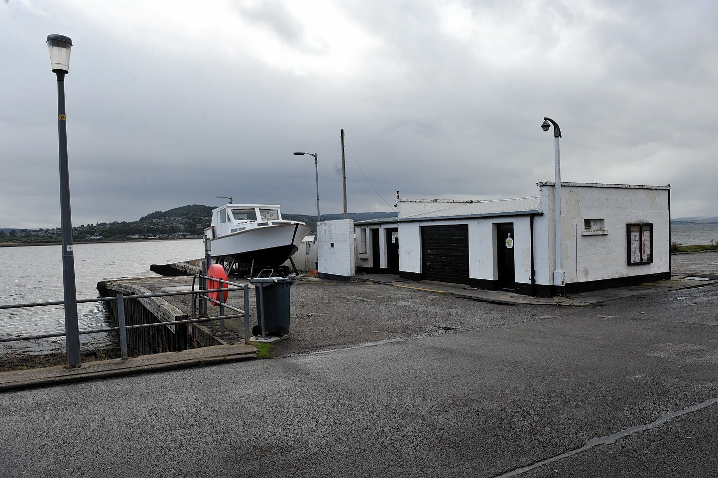 The North Kessock Ferry slipway and former ticket office.