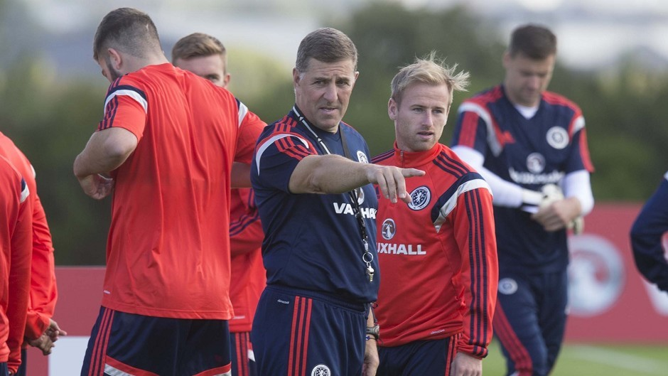 Scotland's Mark McGhee during a training session at Mar Hall.