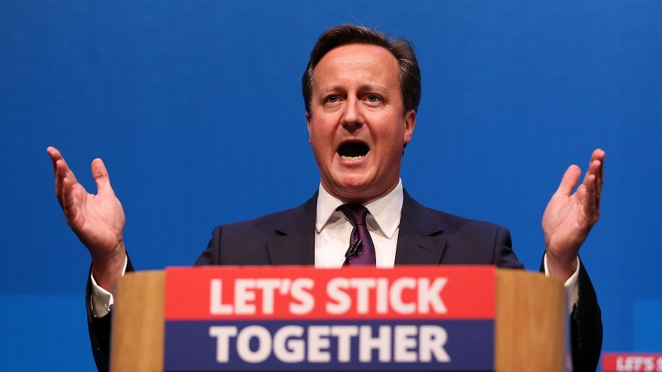 Prime Minister David Cameron, who campaigned for a No vote