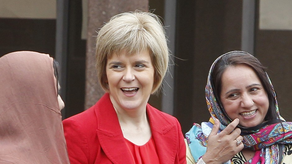 Nicola Sturgeon was one of the first to take to Twitter