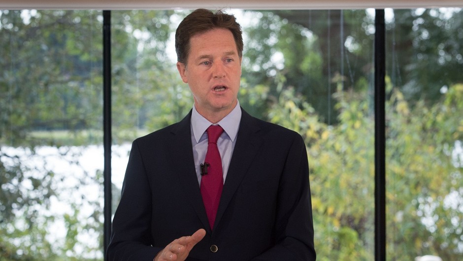 Deputy Prime Minister Nick Clegg warned Scottish independence would lead to 'untold uncertain consequences'