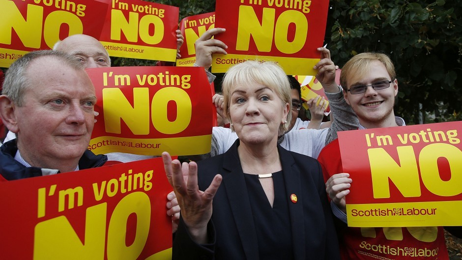 Scottish Labour Leader Johann Lamont in Nicola Sturgeon's Glasgow Southside constituency