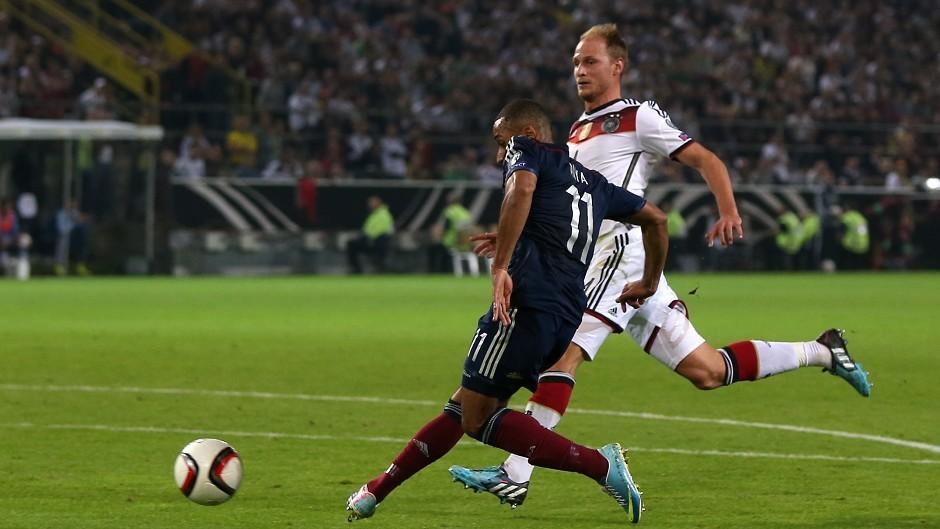 Ikechi Anya cores Scotland's equaliser against Germany
