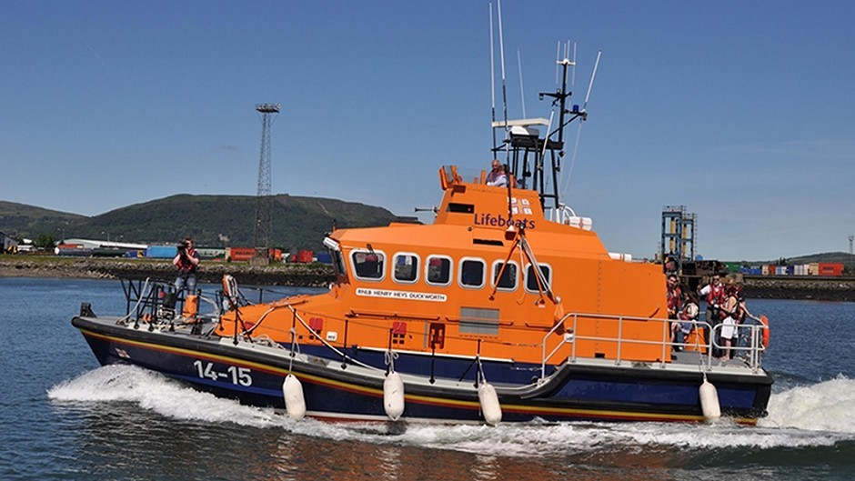 The lifeboat crew carried out an extensive search