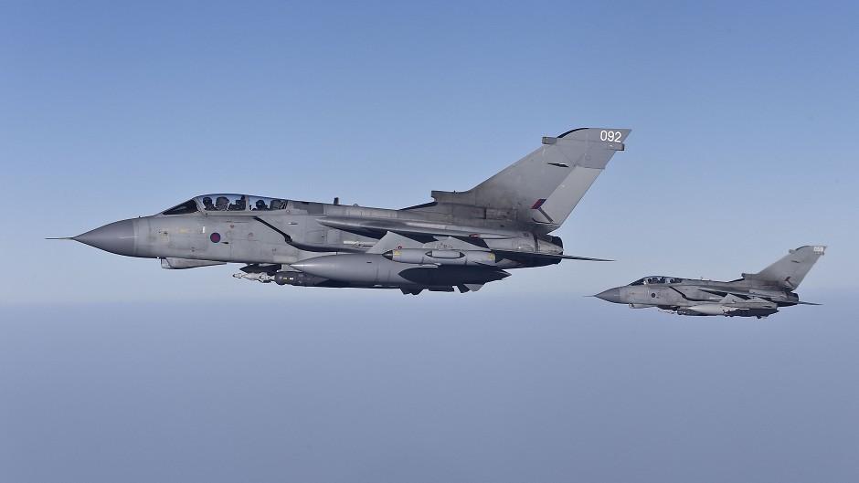 Two RAF Tornado GR4s