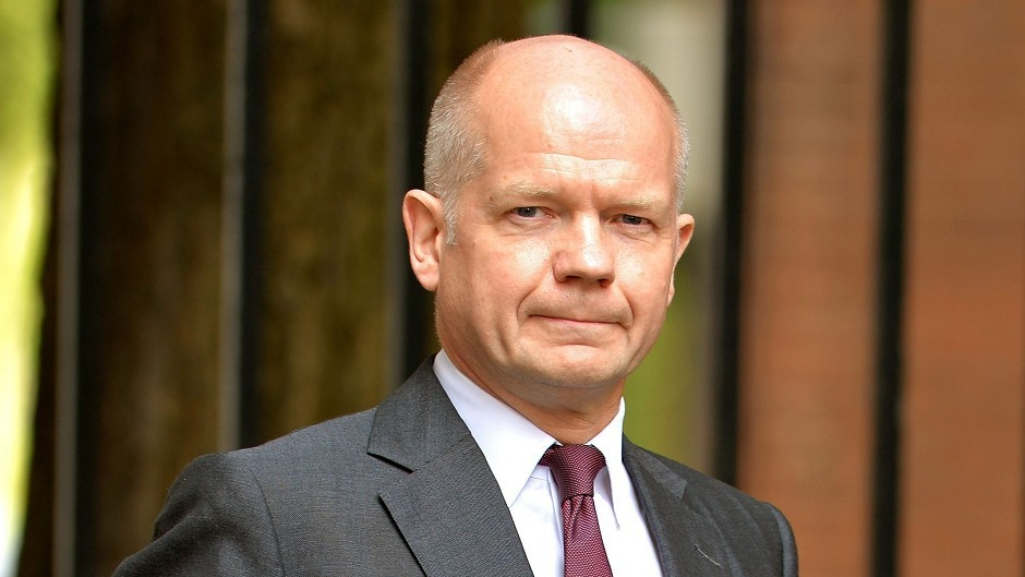 William Hague is delivering a referendum campaign speech in Glasgow