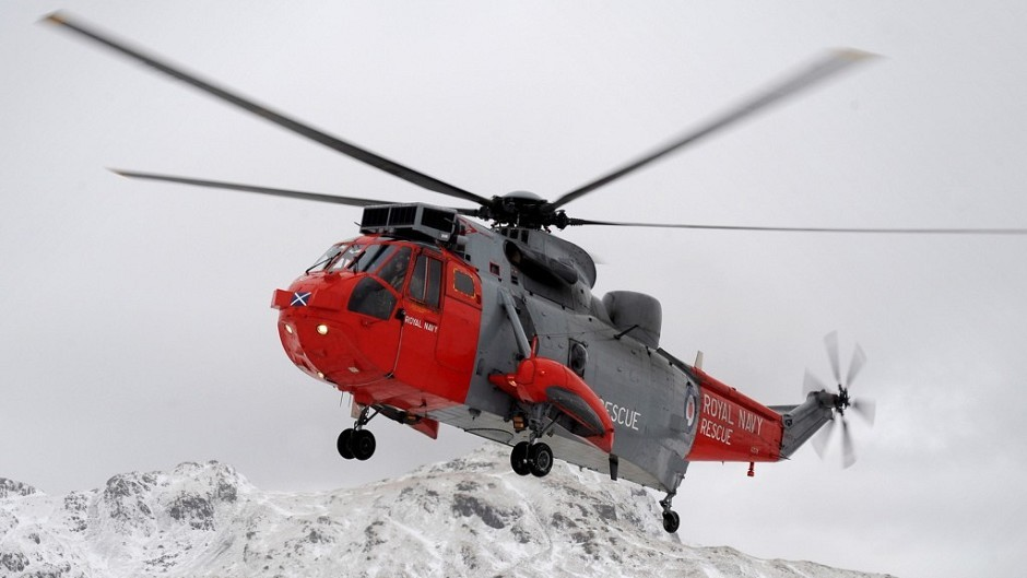 A Royal Navy Sea King helicopter was involved in the rescue in the Cairngorms