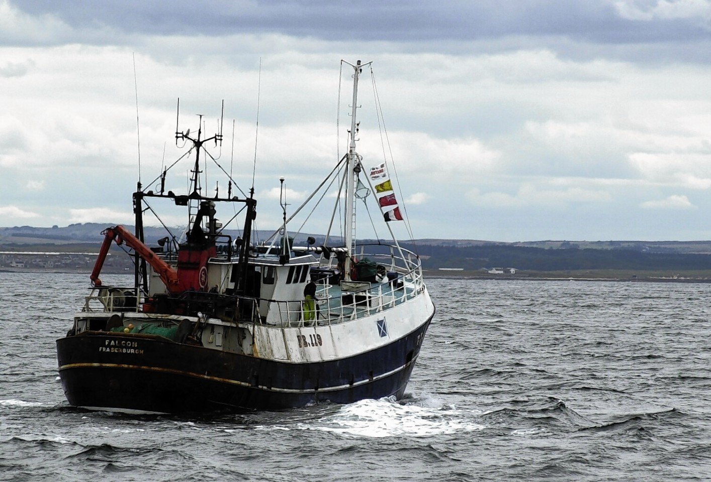 A fishing trawler heads out to sea, they've come a long way since the Fairtry