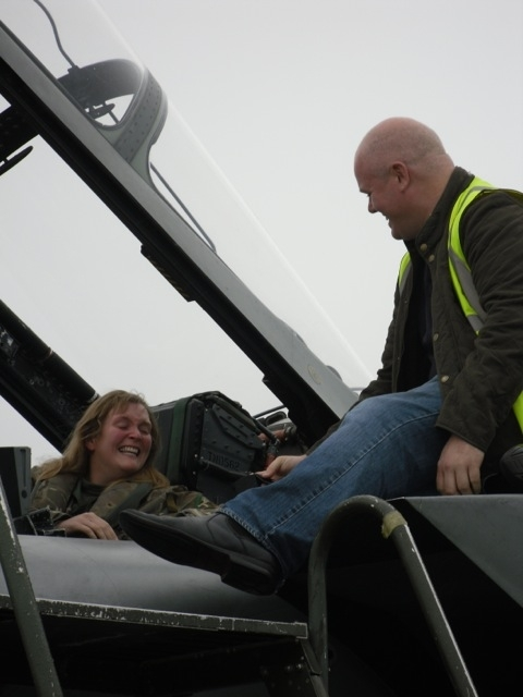 Grant Bruce proposes to Flight Lieutenant Jane Pickersgill
