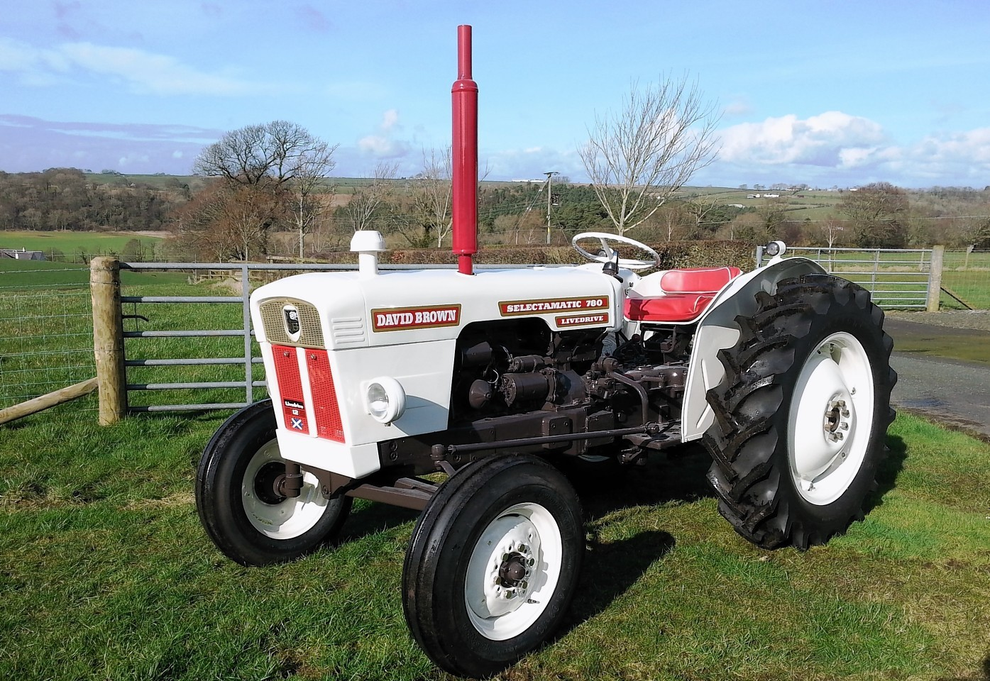 The 1971 David Baron 780 tractor being raffled by RSABI.