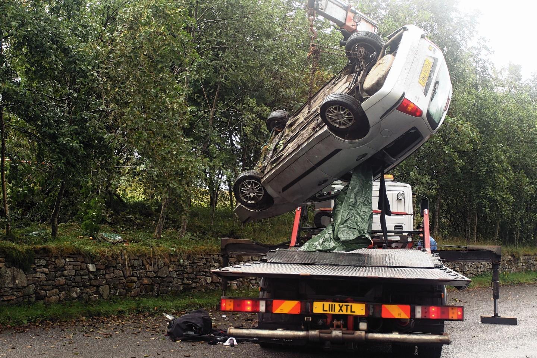 Bridge of Orchy car crash