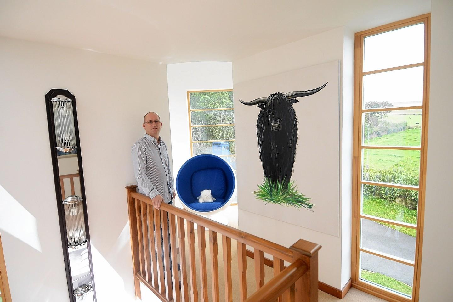Tony Allen in his Aberdeenshire home