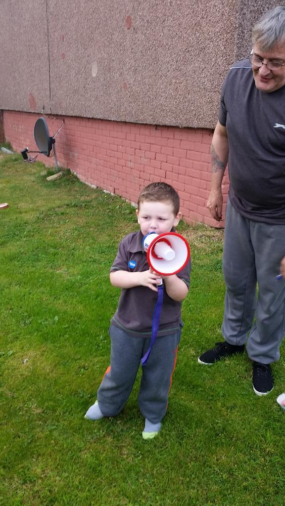 This youngster may not be allowed to vote but he certainly had his say