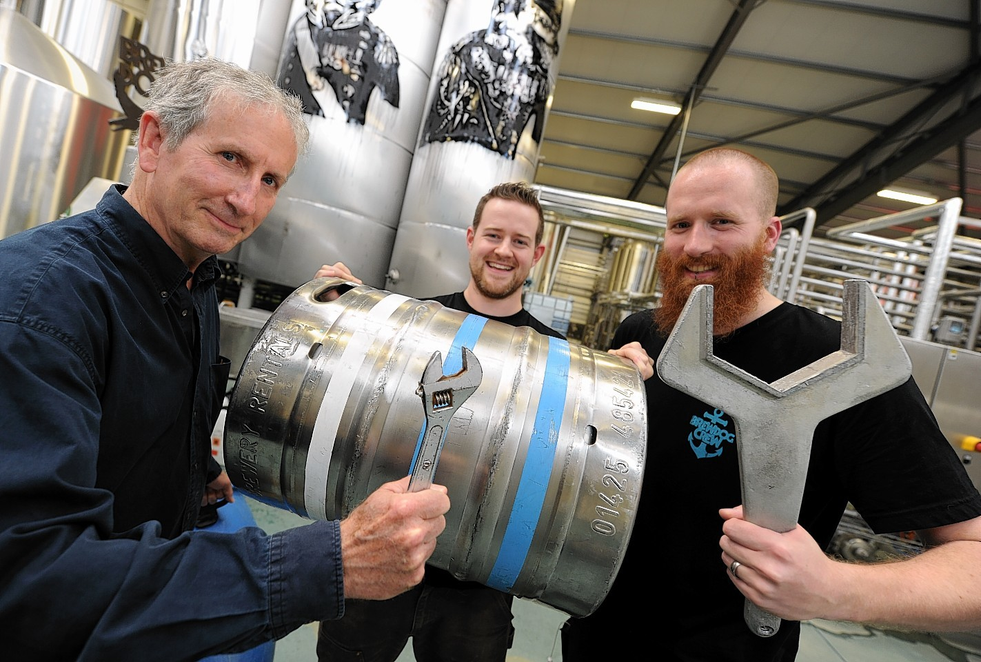 Composer Stephen Montague (pictured left) along with brewery BrewDog are taking aprt in an arts-food project across Aberdeenshire