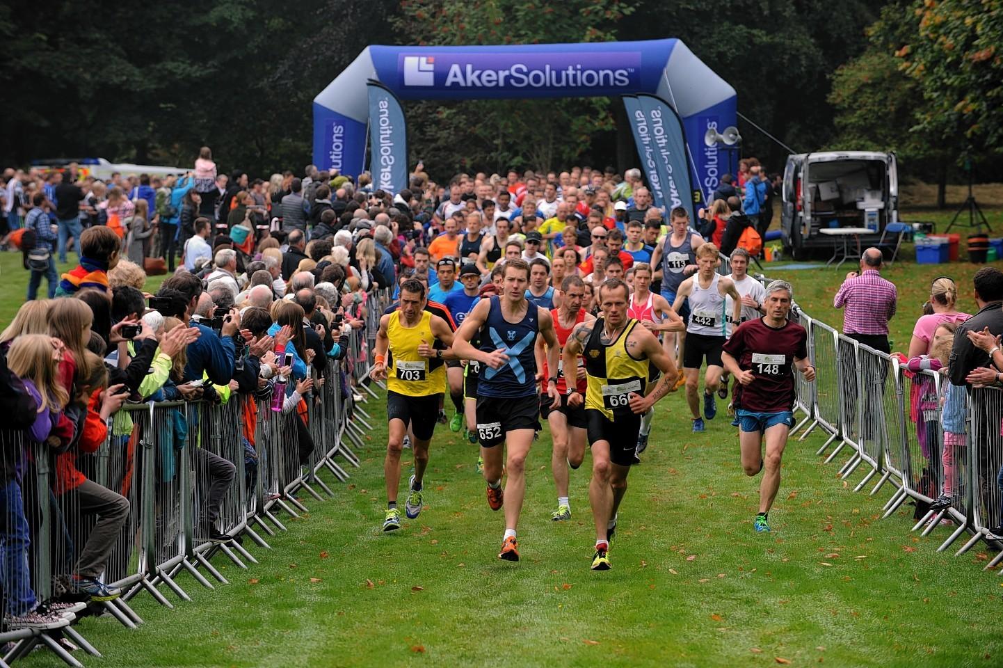 The Crathes Half-Marathon 2014, at Crathes Castle.